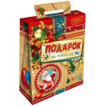 Сладкие новогодние подарки в упаковке из хром-эрзацкартона в Москве