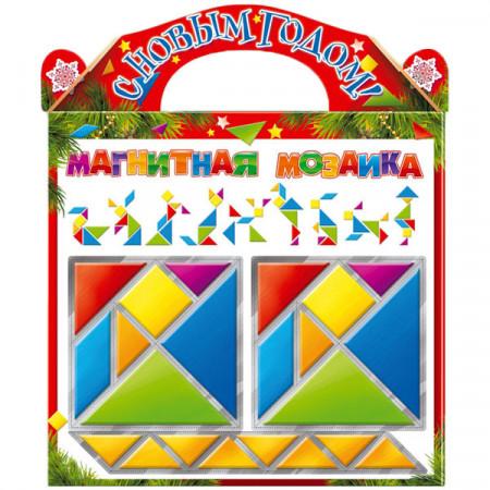 Сладкий детский новогодний подарок Магнитная Мозаика 900 грамм в упаковке из микрогофрокартона в стандартной комплектации.