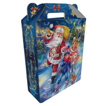 Подарок в картоне Зимние забавы 900 грамм элит