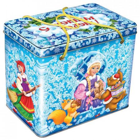 """Подарок в шкатулке """"Новогодние узоры"""" 1600 грамм"""