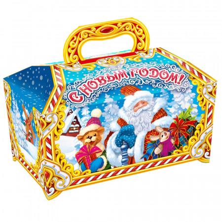 Сундучок с Дедом Морозом 1500 грамм элит