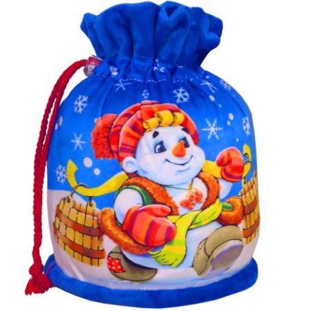 Сладкий новогодний подарок Мешочек голубой 800 грамм стандарт