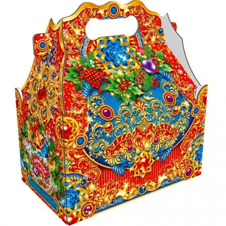 Сладкий новогодний подарок Ларец простой Вензель 1100 грамм премиум