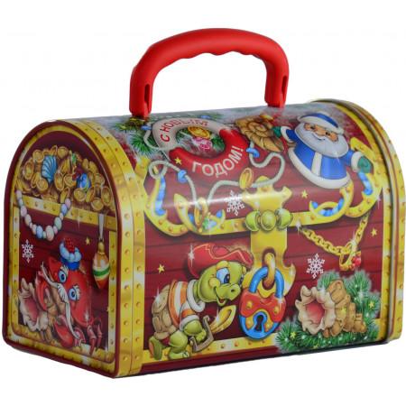Сладкий новогодний подарок Сундук восточный 1000 грамм стандарт