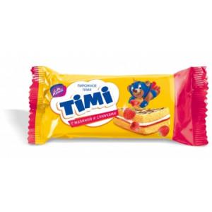Пирожное Тими с малиной и сливками 33 гр.