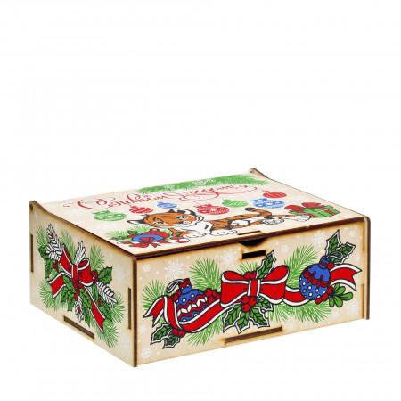 Сладкий новогодний подарок Шкатулка музыкальная Символ года 600 грамм стандарт
