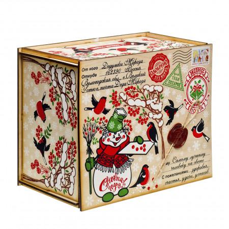 Посылка от Деда Мороза Снегири 1300 грамм премиум