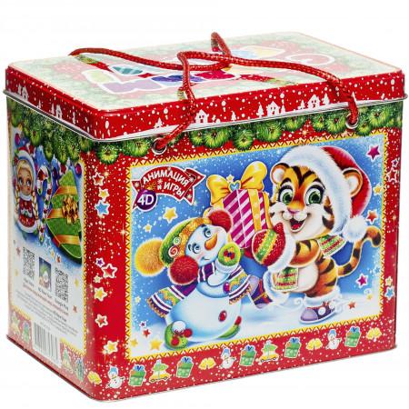 Сладкий новогодний подарок Короб Символ года 1500 грамм премиум
