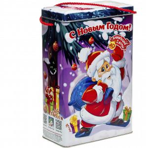 Короб с Дедом Морозом 1000 грамм стандарт
