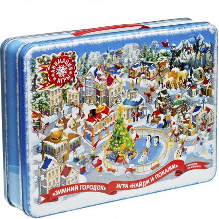 Сладкий новогодний подарок Кейс Зима 1500 грамм элит