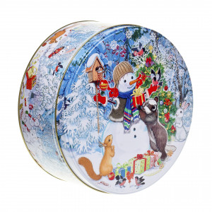 Шкатулка Снеговичок 600 грамм стандарт