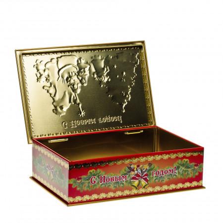 Сладкий новогодний подарок Дед Мороз и дети 800 грамм премиум