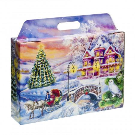 Сладкий новогодний подарок Портфель Чудный вечер 1700 грамм элит