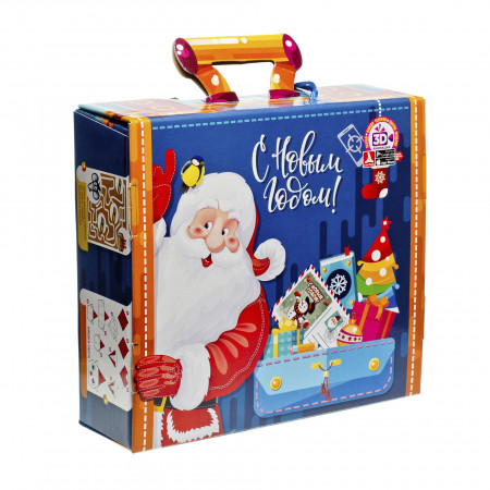 Сладкий новогодний подарок Новогодний багаж 3D с подвеской 2000 грамм элит