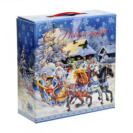 Сладкий новогодний подарок Мороз и сказка 1300 грамм элит