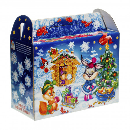 Сладкий новогодний подарок Чемоданчик Снежинки 1300 грамм премиум