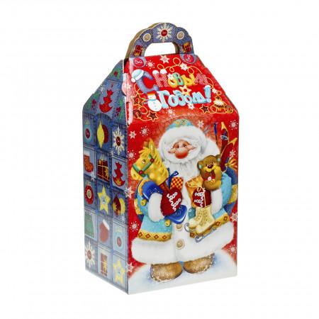 Сладкий новогодний подарок Дед Мороз с подарками 1000 грамм премиум