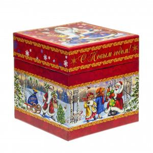 Куб Дед Мороз и дети 800 грамм стандарт