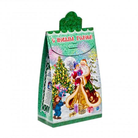 Сладкий новогодний подарок Пакет Зимний экспресс 800 грамм стандарт