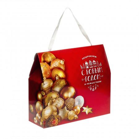 Сладкий новогодний подарок Золотые шары 800 грамм стандарт