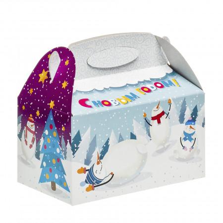 Сладкий новогодний подарок Снежок 500 грамм стандарт