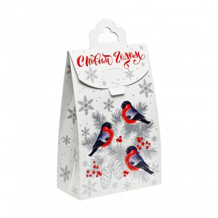 Сладкий новогодний подарок Пакет Снегири 800 грамм премиум