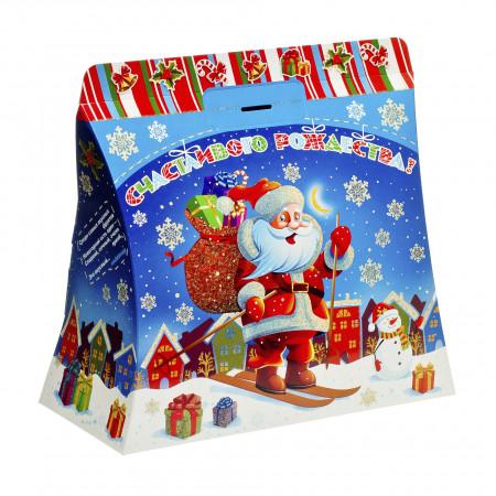 Сладкий новогодний подарок Поздравление Деда Мороза 1000 грамм премиум