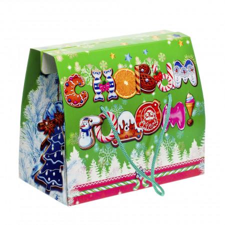 Кейс С Новым Годом зеленый 1000 грамм премиум