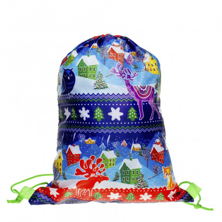 Сладкий новогодний подарок Рюкзачок Зимний 1700 грамм элит