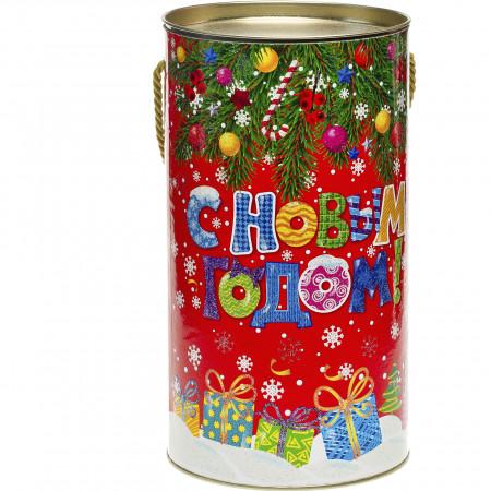 Сладкий новогодний подарок Туба Украшения 800 грамм стандарт