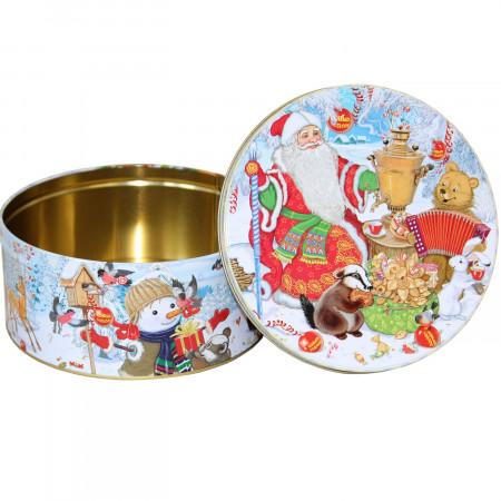 Сладкий новогодний подарок Шкатулка праздничная 800 грамм элит