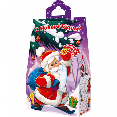 Пакет с Дедом Морозом 800 грамм премиум