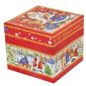 Куб Дед Мороз и дети 800 грамм премиум