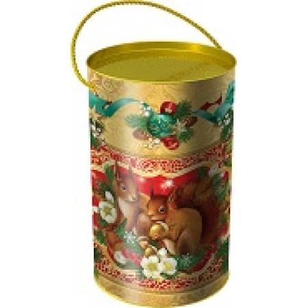 Подарок в тубе Белочки 900 грамм элит
