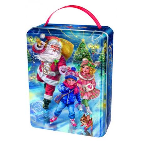 """Сладкий детский новогодний подарок """"Каток"""" 900 грамм премиум"""